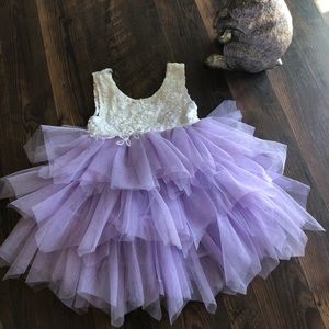 Easter Dress! Ivory and lavender toddler size 2